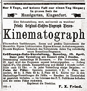 Kinematograph F.X. Fried