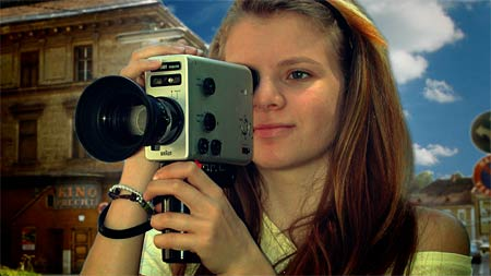Girl with a Super8-Camera