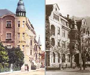 Hotel Salzburg (links) und Hotel Goldeck - Fotos: Stadtarchiv